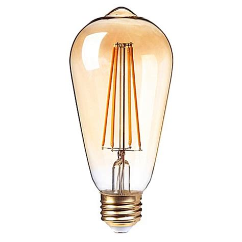 globe 174 electric led vintage 5 watt dimmable st19 bulb