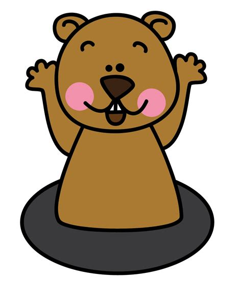 Groundhog Day Clipart Clipart Groundhog Pencil And In Color Clipart