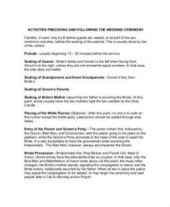 wedding ceremony outline wedding outline template 6 free word pdf document downloads free premium templates