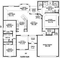 2 4 bedroom house plans 4 bedroom 2 bath house plans bedroom ideas pictures