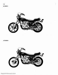 1981-1982 Kawasaki Kz1000 Kz1100 Motorcycle Repair Service Manual
