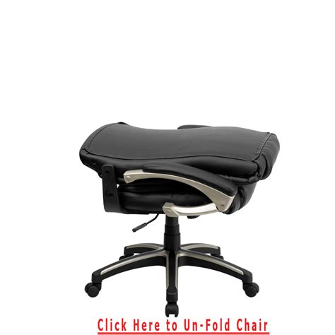 high back folding black leather executive swivel office