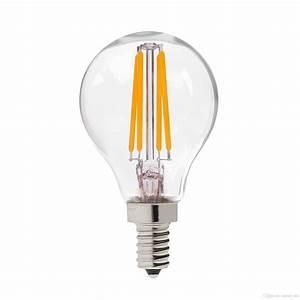Filament Led E14 : retro led filament light bulb 4w e12 e14 base edison g45 clear style 110v 220vac dimmable e12 ~ Markanthonyermac.com Haus und Dekorationen