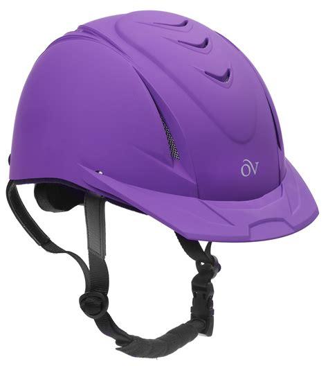 riding horse helmet helmets horseback horses purple schooler ovation deluxe gear