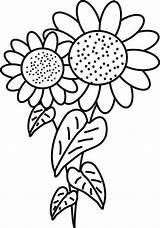 Sunflower Coloring Pages Printable Sunflowers Drawing Fancy Clipart Colouring Sun Flowers Van Colors Simple Cartoon Colornimbus Cliparts Gogh Bouquet Thanksgiving sketch template