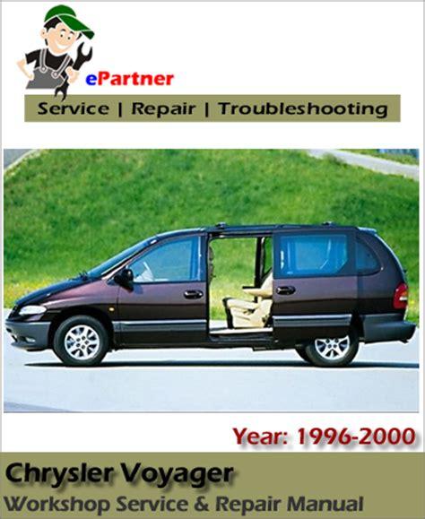 motor repair manual 2000 chrysler voyager user handbook chrysler voyager service repair manual 1996 2000 automotive service repair manual