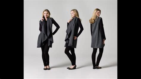 Draped Coats - how to make a sleeveless draped coat teach me fashion