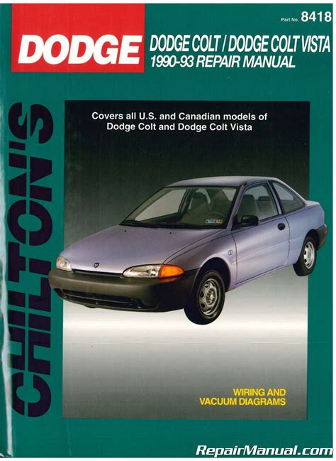 car repair manuals download 1993 plymouth colt user handbook used chilton dodge colt dodge colt vista 1990 1993 repair manual
