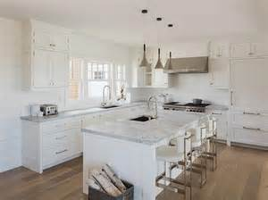 cottage kitchen island white cottage kitchen with white leather counter stools transitional kitchen