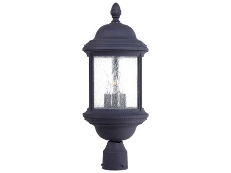 minka lavery hancock black three light outdoor post light