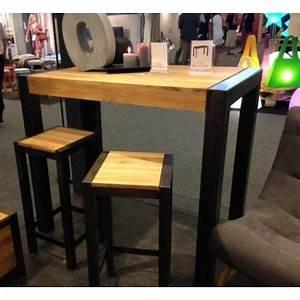 Table Haute Industrielle : 25 best tables hautes images on pinterest diner table ~ Melissatoandfro.com Idées de Décoration