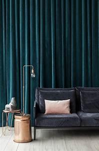 Rideau Velours Vert : focus sur la tendance d co du rideau en velour ~ Teatrodelosmanantiales.com Idées de Décoration
