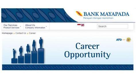 lowongan kerja bank mayapada cari karyawan  posisi