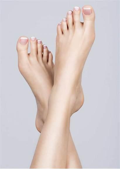 Pedicure French Feet Female Femminili Piedi Cracked