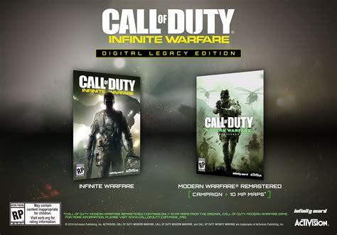 call  duty infinite warfare editions announced legacy