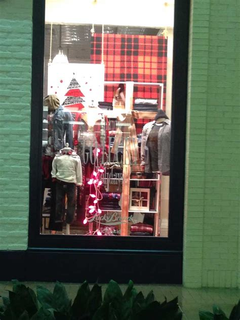 Christmas Store Windows Lucky Brand At Northpark  Store