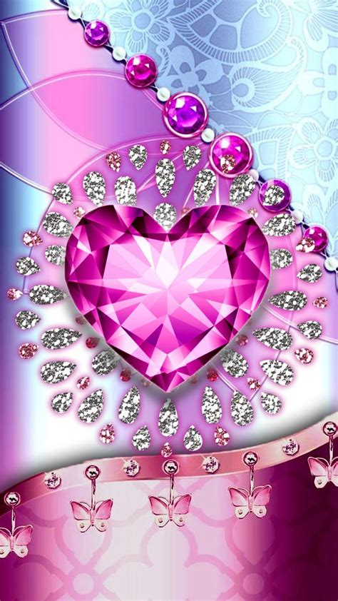 Sending pictures from your phone to your email is quite easy as long as you have your phone enabled discover how to send pictures from your phone to your email with help from a cell phone. Whats more luxury than a art in diamonds? Pink diamond heart wallpaper. | Pink glitter wallpaper