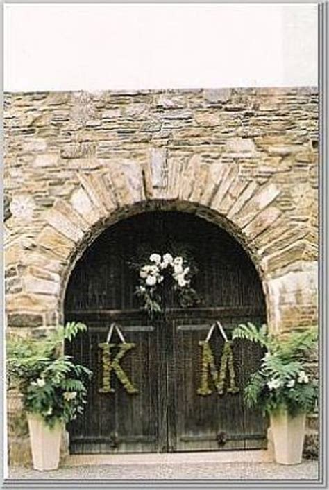wedding decorations   church  reception monogrammed letters   door hubpages