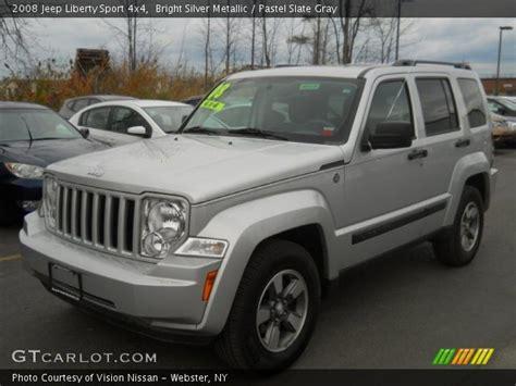 jeep liberty silver inside bright silver metallic 2008 jeep liberty sport 4x4