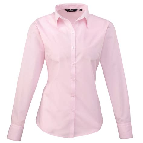 pink blouses 39 s poplin sleeve blouse pink chogou