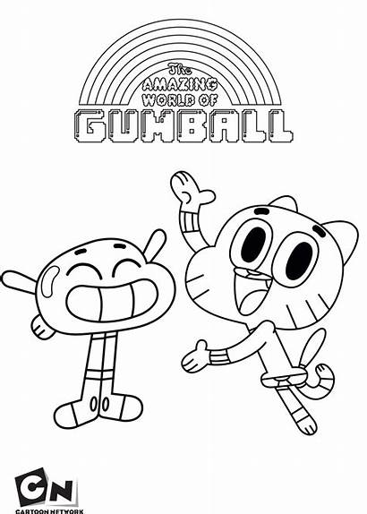 Gumball Coloring Amazing Pages Anais Cartoon Sheets