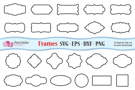 Free vectors and icons in svg format. SVG Frames clip art