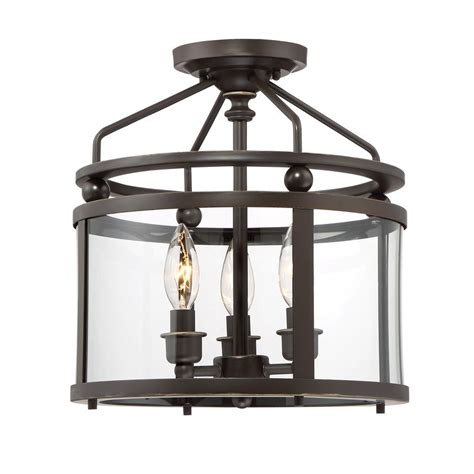 lowes quoizel norfolk    oil rubbed bronze clear