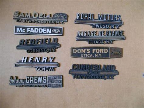Buy Vintage Car Dealer Dealership Emblem Lot Ford Mercury