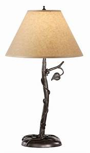 Sassafras hand forged iron table lamp for Chevron shelf floor lamp