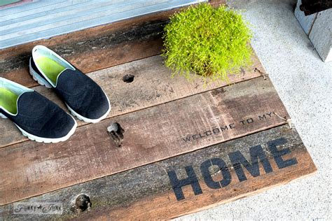 front door welcome mat welcome to my branched front door barn wood bench and