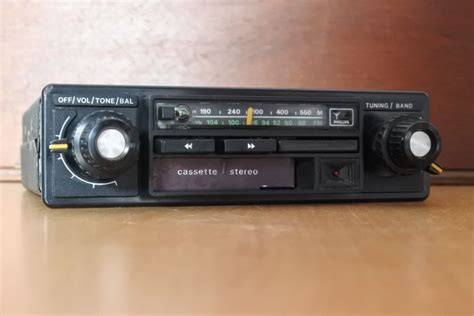 Classic Philips Cabrio Iac 660 Car Radio / Cassette Player
