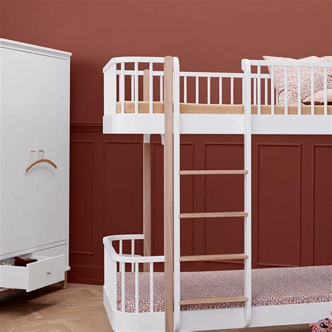 Oliver Furniture Etagenbett by Oliver Furniture Etagenbett Wood Eiche Leiter Vorne