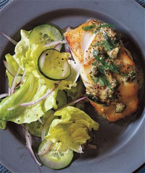 pan fried   mustard caper sauce recipe real simple