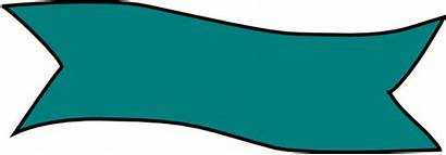 Banner Teal Clip Clipart Turquoise Vector Cliparts