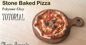 Miniature Polymer Clay Stone Baked Margherita Pizza