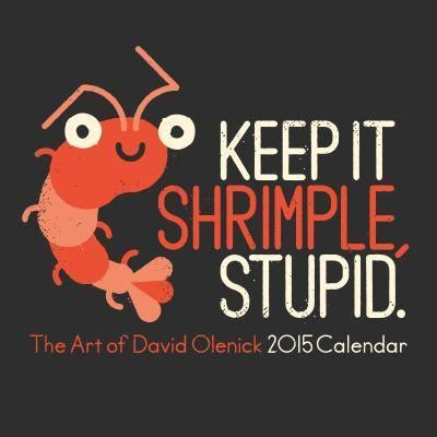 shrimple stupid art david olenick calendar