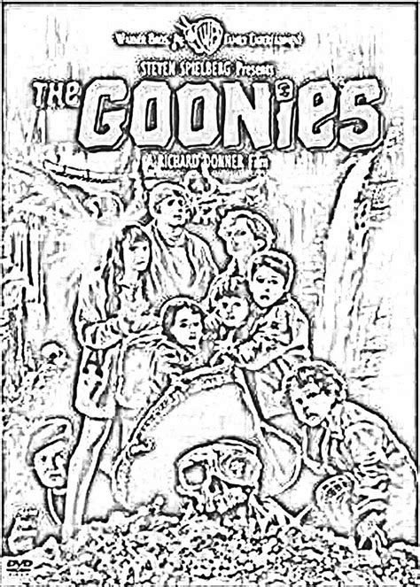 The Goonies - Coloring Page | Free Adult Coloring Pages
