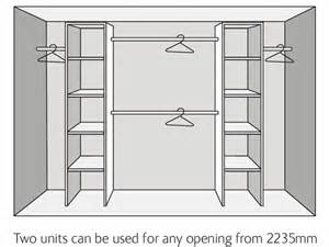 Closet Doors Uk by Wardrobe Interior Kits Economy Range Sliding Wardrobe