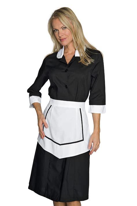 tablier femme de chambre ensemble femme de chambre blouse et tablier noir et blanc