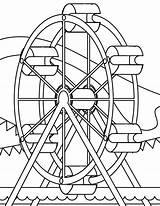 Carnival Coloring Pages Rides Print sketch template