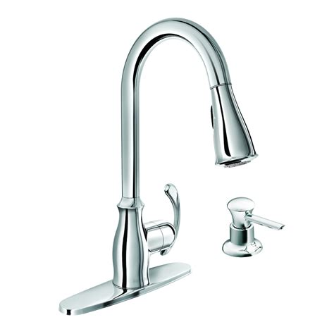 shop moen kipton chrome 1 handle deck mount pull