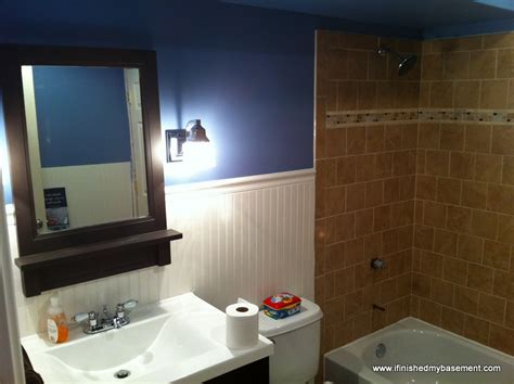 finished bathroom ideas basement bathroom one mans quest to finish his basement