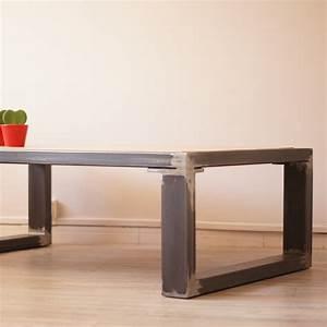 Table Bois Et Fer : meuble en fer design ~ Teatrodelosmanantiales.com Idées de Décoration