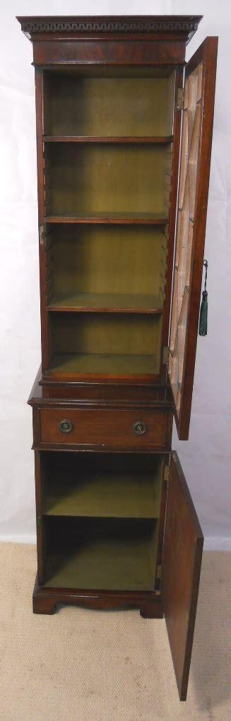 Small Narrow Cupboard georgian style mahogany small narrow bookcase cabinet