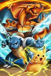 Pokemon - Pikachu Blastoise Charizard by GenghisKwan on ...