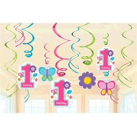 zum 1 geburtstag mädchen deko swirls 1 geburtstag sweet birthday 1