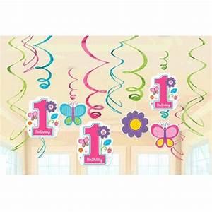 Deko Geburtstag 1 : deko swirls 1 geburtstag sweet birthday girl 1 kindergeburtstag kindergeburtstag ~ Markanthonyermac.com Haus und Dekorationen