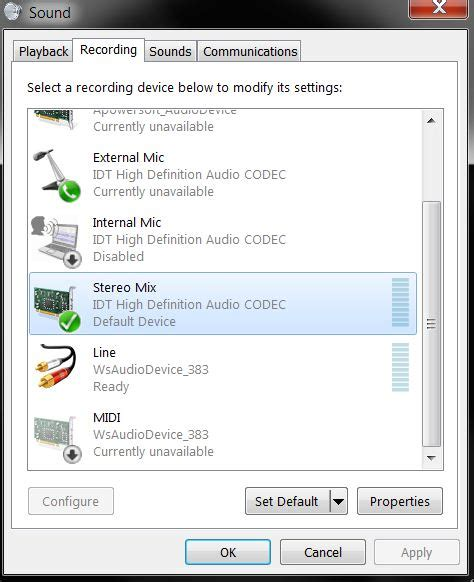audio what is stereo mix supposed to be used for in windows user