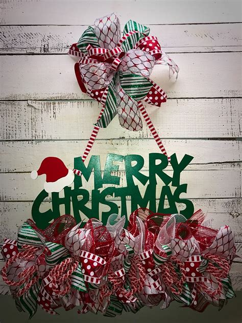 christmas door hanger christmas door decor holiday door