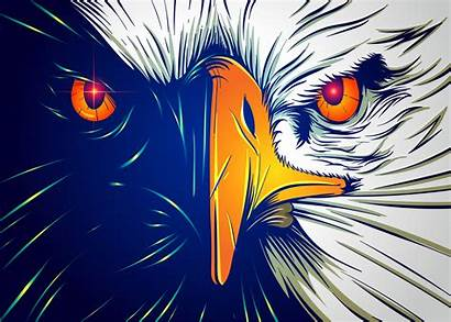 Face Eagle Powerful Vector Graphics Clipart Vectors